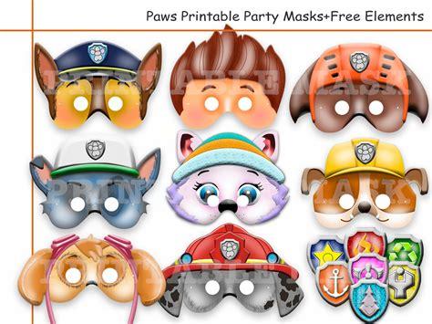 printable paw patrol party decorations unique paw patrol printable masks party masks birthday