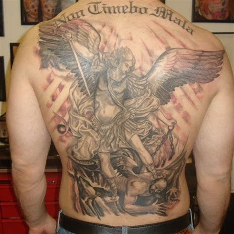 tr st tattoos designs st michael backpiece 27 st michael designs