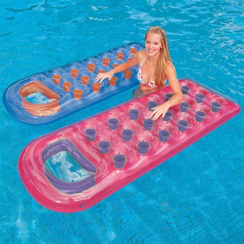 Intex Glossy Mat With Pillow Top Pocket Fashion Designer Lounger Lilo Float