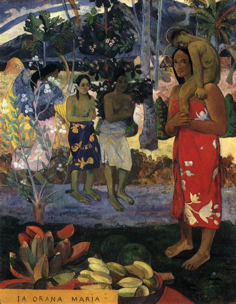 paul gauguin ia orana maria hail mary by gauguin paul