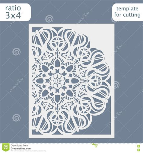 pattern card template laser cut wedding invitation card template cut out the