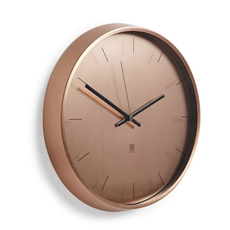 ATTRACTIVE COPPER WALL CLOCK