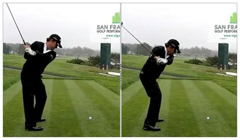 laid off golf swing laying off the club and getting the right elbow back in