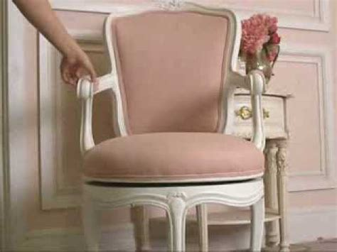 vintage shabby chic style swivel office chair in pink and