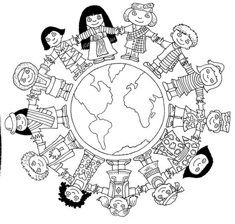 Printable Coloring Pages Around The World Children Around The World Coloring Pages Coloring Home