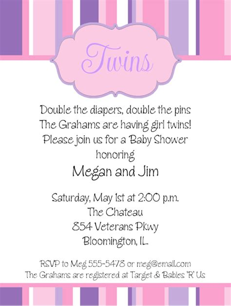 baby shower invitations templates for twins twin baby girl shower invitations theruntime com
