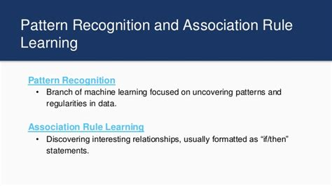 pattern recognition and machine learning algorithms leveraging artificial intelligence to build algorithmic