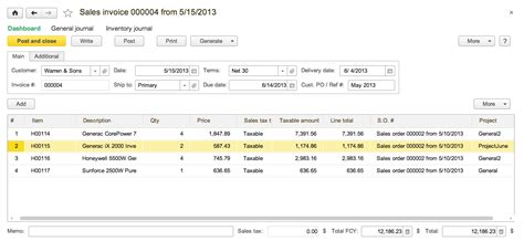 sle invoice for accounting services sales module orders invoicing returns refunds and payments