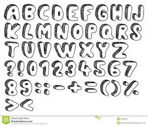 Comic Doodle Font Hand Drawn And Sketched sketch template