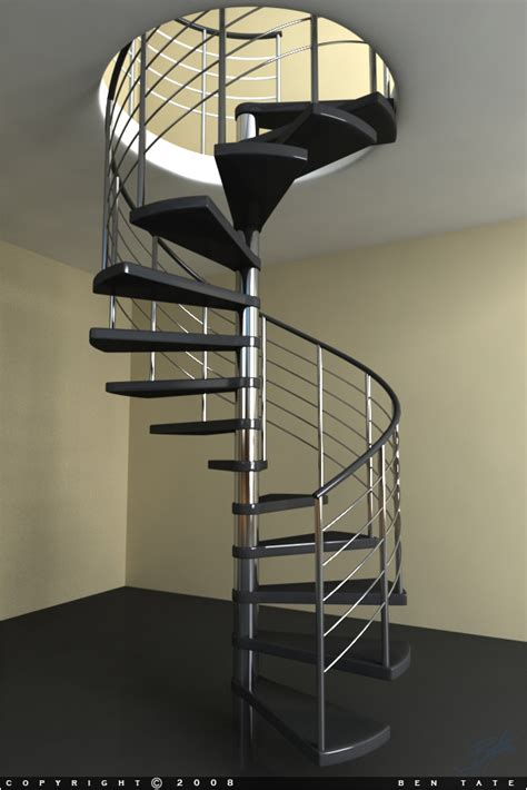 Spiral Staircase by Model A Modern Spiral Staircase In 3ds Max