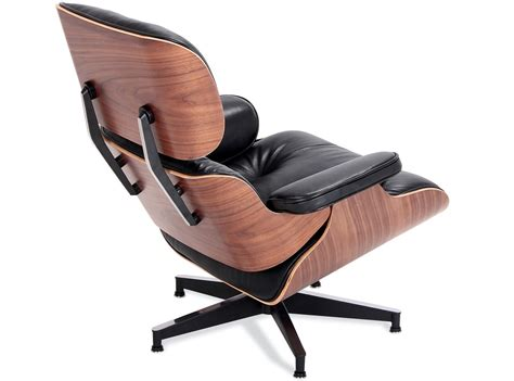 Cheap Eames Lounge Chair by Great Black Waxed Aniline With Eames
