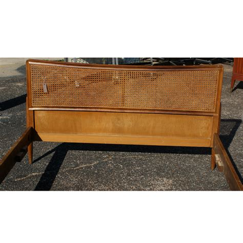 60 quot queen vintage danish cane bed frame ebay
