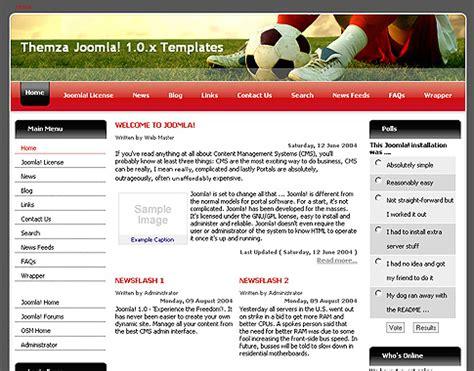 templates para blogger joomla liga de f 250 tbol template de dise 241 o gratuito para joomla