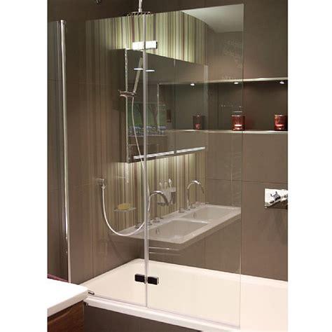 hart double folding bath screen shower bath screens