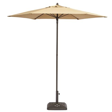 7 patio umbrella hton bay 7 1 2 ft steel push up patio umbrella in cafe