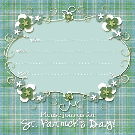 st s day invitation card templates free free st s day invitations printable