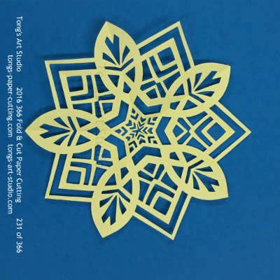 Paper Folding Challenge - 2016 fold cut paper cutting challenge august collections