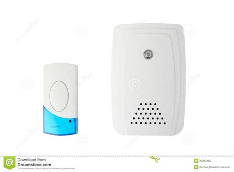 wireless doorbell system royalty  stock photo image