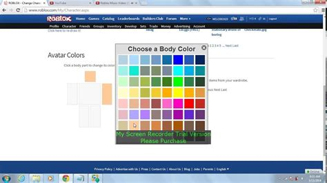 roblox colors roblox how to change your color