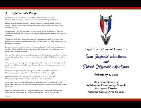 eagle scout court of honor program template 175 best eagle scout ceremony images on boy