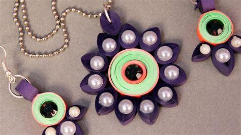 paper quilling tutorial youtube paper quilling craft tutorial 5 beautiful pendant