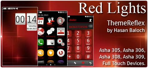 nokia asha 305 god themes red lights theme for nokia asha 305 asha 306 asha 308