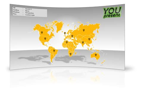 World Map Template For Powerpoint Youpresent Powerpoint Map Template