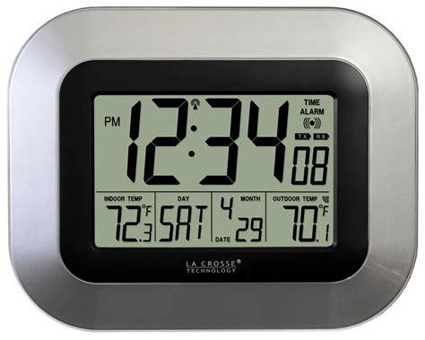 digital wall clock amazon amazon com la crosse technology ws 8115u s atomic