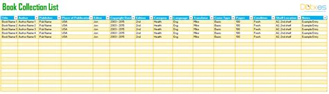 Book Tracking List Template For Excel 174 Dotxes Book List Excel Template