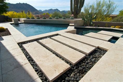 scottsdale estate pool patio tile modern patio