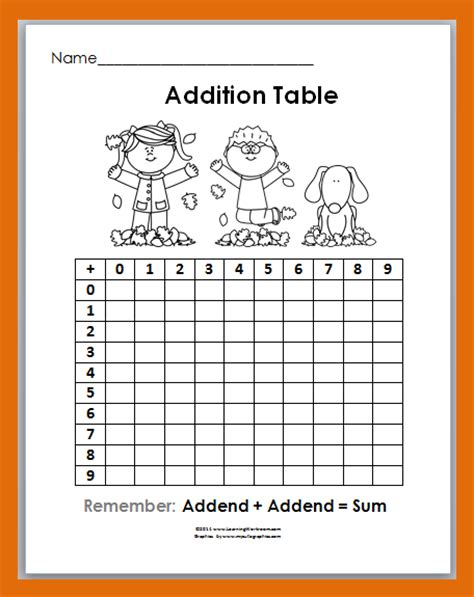 addition 187 addition patterns worksheets 3rd grade free classroom freebies fall fun addition table freebie