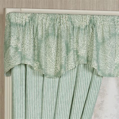 Coastal Window Curtains Antigua Coastal Shaped Valance Window Treatment
