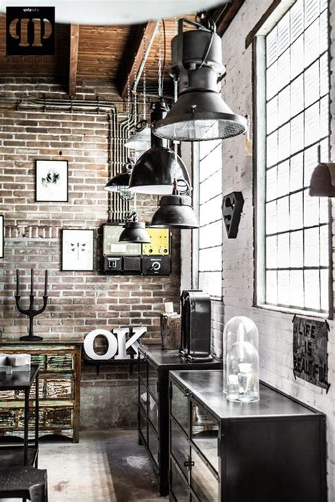 home decor industrial style brick walls industrial chic home decor home design