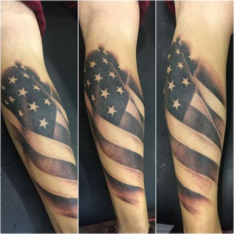 black and grey tattoo artists usa black and grey american flag by patrick raymond tattoo