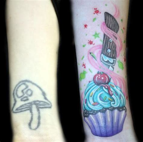 wrist tattoos cover up color cupcake coverup by angela leaf tattoos