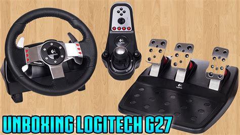 volante logitech g27 unboxing volante logitech g27