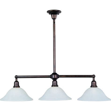 Pendant Island Lighting Maxim Lighting Bel Air 3 Light Rubbed Bronze Pendant 11093svoi The Home Depot