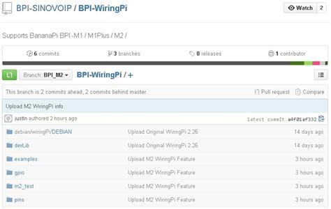 git official tutorial bpi wiringpi officially supports bpi m2 news banana pi