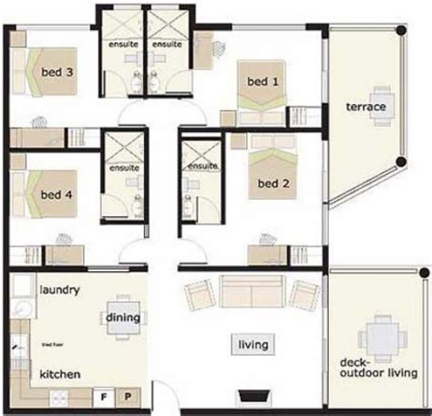House Designs And Floor Plans In Nigeria | stunning 4 bedroom house designs 4 bedroom bungalow house