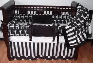 Black And White Crib Bedding Ivan Black White Crib Set This Custom 3 Pc Baby Crib Bedding Set Includes Bumper Pad Crib