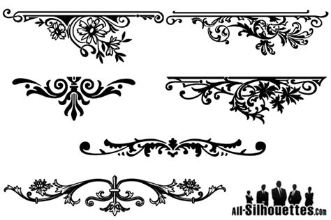floral pattern frame vector vector floral ornaments graphic design 123freevectors