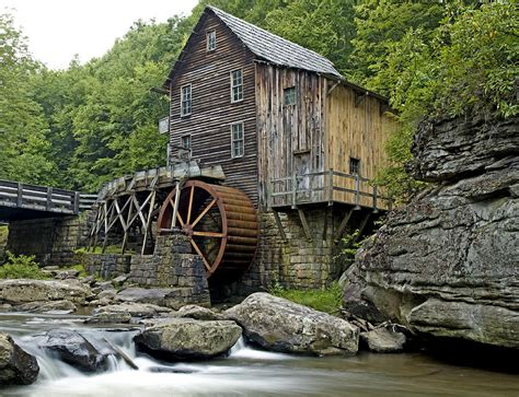 glade creek grist mill located in babcock state park west
