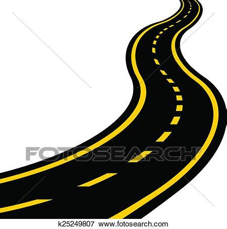 fotosearch clipart clip of winding road k25249807 search clipart
