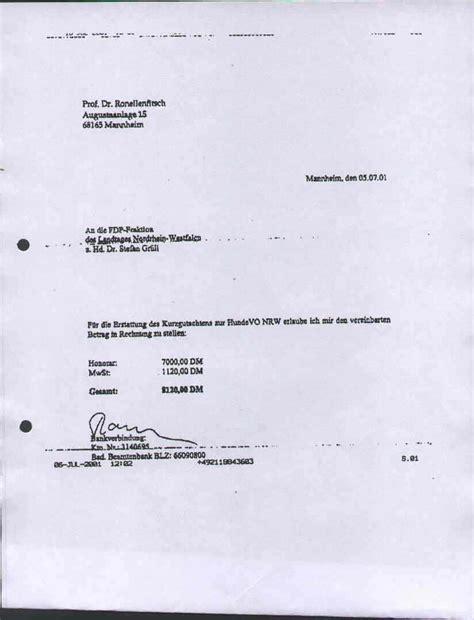 Rechnung Quittung Privatperson dr stefan gr 252 ll und die finanzierung des