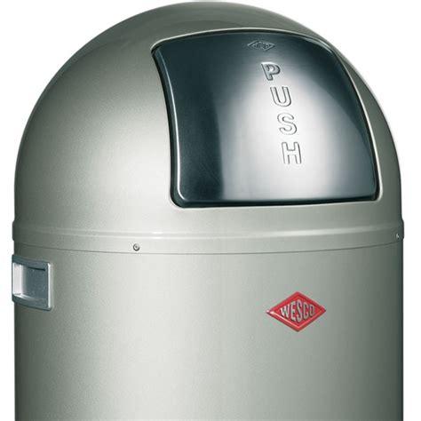 designer kitchen bins wesco pushboy bin designer silver modern kitchen trash can