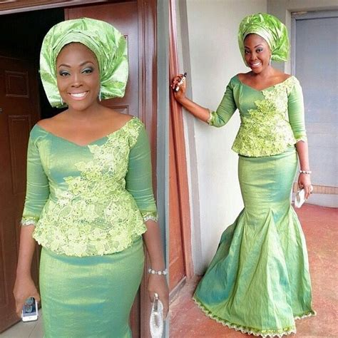 lastest aseobi colours nigerian wedding green and lemon ore iyawo aso ebi color