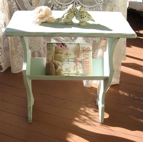 cottage style magazine table shabby chic aqua blue table magazine rack cottage chic