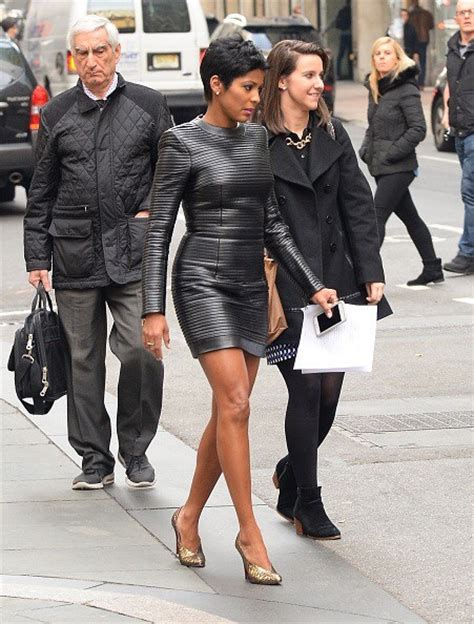 tamron hall leather splurge tamron hall s new york city balmain long sleeve