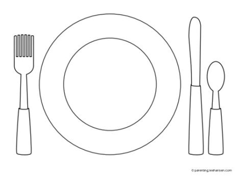 Favorite Foods Coloring Pages Hubpages Montessori Placemat Template