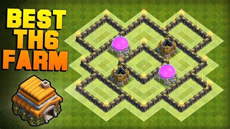 edit layout coc th6 clash of clans best th6 farming base new town hall 6